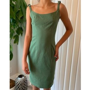 vintage CHRISTIAN DIOR army green classic dress 6
